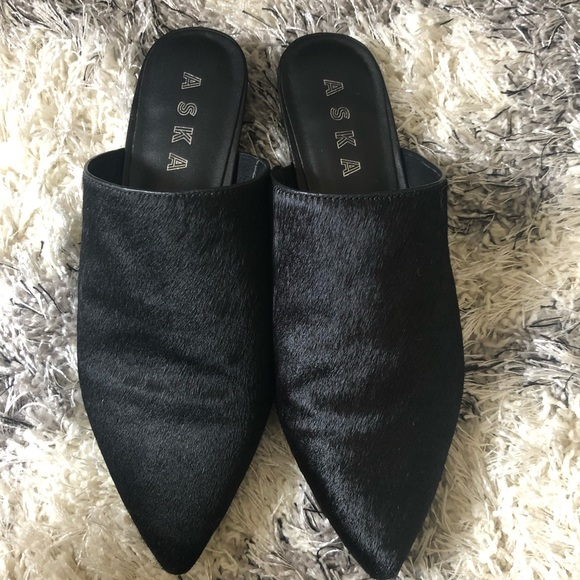 aska Shoes - Aska pony hair mules